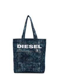 Diesel Printed Denim Tote