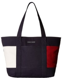 Tommy Hilfiger Th Flag Canvas Northsouth Tote Tote Handbags