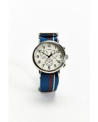 Timex Striped Band Weekender Chrono Watch
