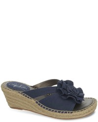 LifeStride Benefit Wide Width Espadrille Wedge Sandals