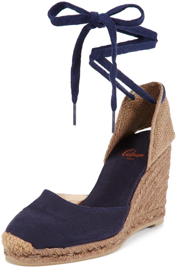 a1f8159e1de3 Castaner Carina 8 Ankle Tie Wedge Espadrille Sandal