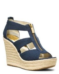 Michl kors damita canvas espadrille wedge medium 190560