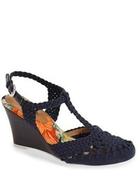 Nina Originals Matrix Crochet Wedge Sandal