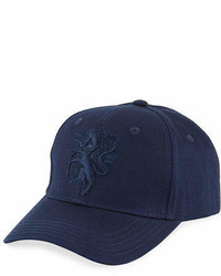 Philip Treacy Baseball Cap W Embroidered Logo