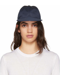 Thom Browne Navy Twill Six Panel Baseball Cap