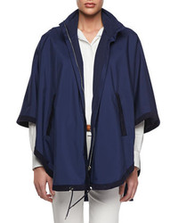 Navy Cape Coat