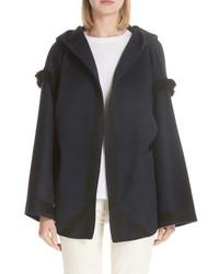 Sofie D'hoore Cyrene Fringe Double Face Wool Cashmere Coat