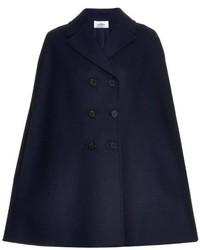 Valentino Notch Lapel Wool Blend Cape