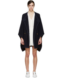 See by Chloe See By Chlo Navy Wool Cape Coat
