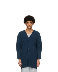 Homme Plissé Issey Miyake Blue Monthly Colors October Long Cardigan