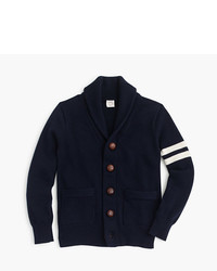 J.Crew Boys Shawl Collar Varsity Cardigan Sweater