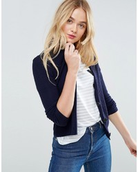 Asos Cardigan In Rib With Button Detail