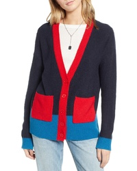Treasure & Bond Colorblock V Neck Cardigan