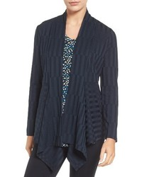 Drape front ribbed cardigan medium 1249319