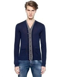 DSquared Extra Fine Double Layered Wool Cardigan