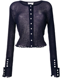 3.1 Phillip Lim Fitted Frill Trim Cardigan