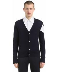 Moncler Gamme Bleu Intarsia Wool Cardigan Sweater