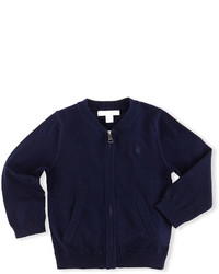 Burberry Jaxson Zip Front Cotton Cardigan Navy Size 6m 3