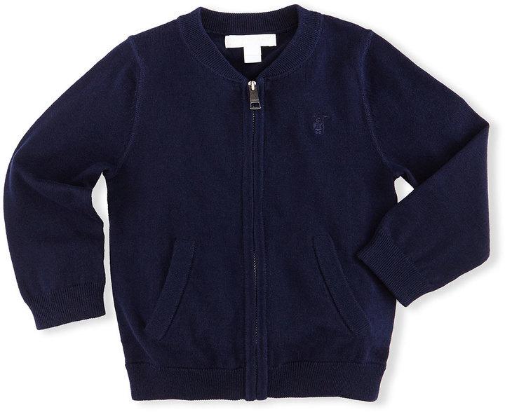 Burberry Jaxson Zip Front Cotton Cardigan Navy Size 6m 3