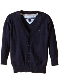 Tommy Hilfiger Kids Long Sleeve Liam Cardigan Boys Sweater