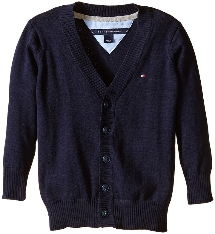 Tommy Hilfiger Kids Long Sleeve Liam Cardigan Boys Sweater
