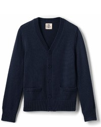 Lands' End Landsend School Uniform Regular Performance Button Front Cardigan