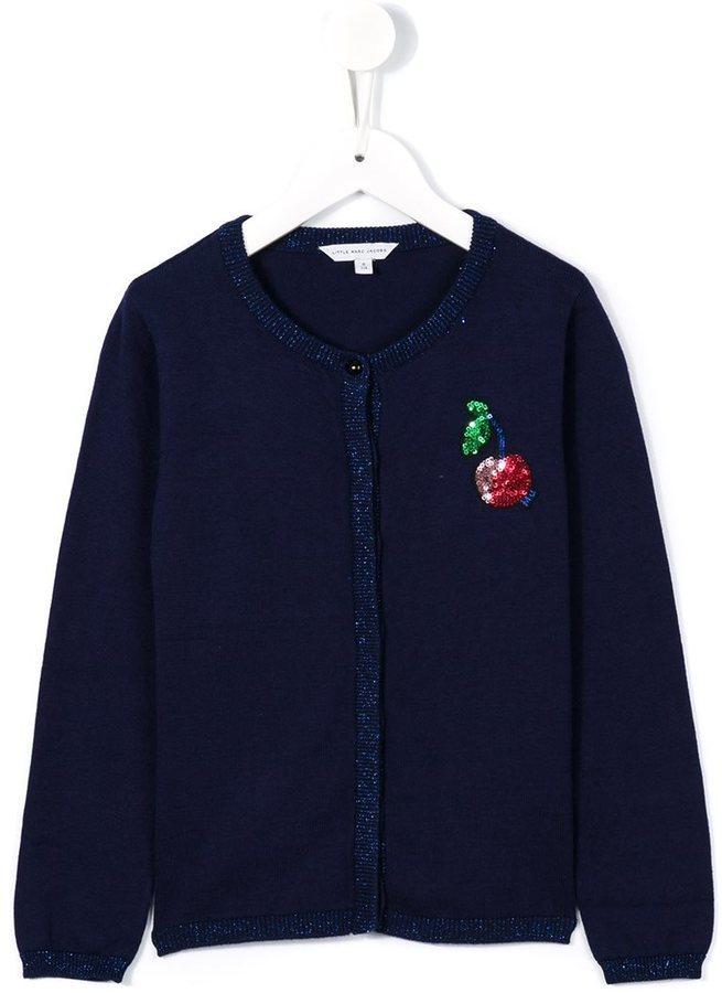 Little Marc Jacobs Sequin Cherry Cardigan