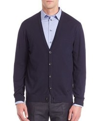 Armani Collezioni Long Sleeve Wool Cardigan
