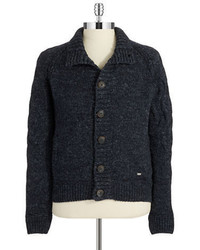 Hugo Boss Marled Button Front Cardigan