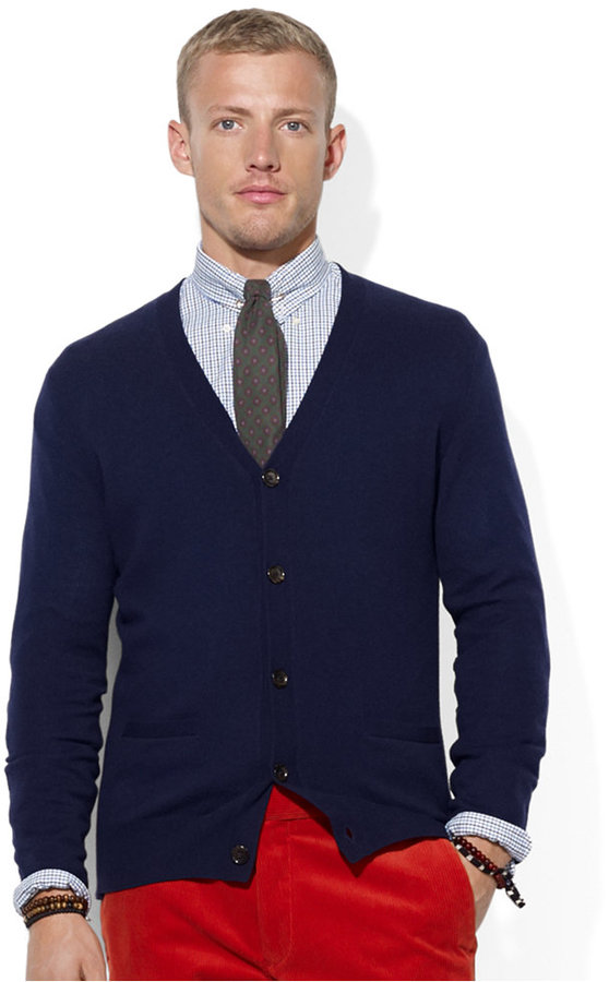 Polo Ralph Lauren Merino Wool V Neck Cardigan | Where to buy & how ...