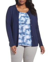 Plus size button front cardigan medium 4951327