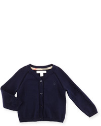Burberry Raglan Cotton Button Front Cardigan Navy Size 6m 3