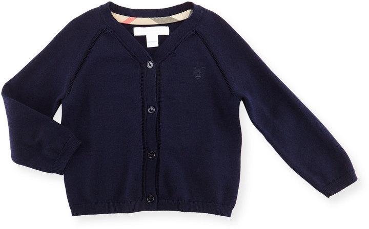Burberry Raglan Cotton Button Front Cardigan Navy Size 6m 3