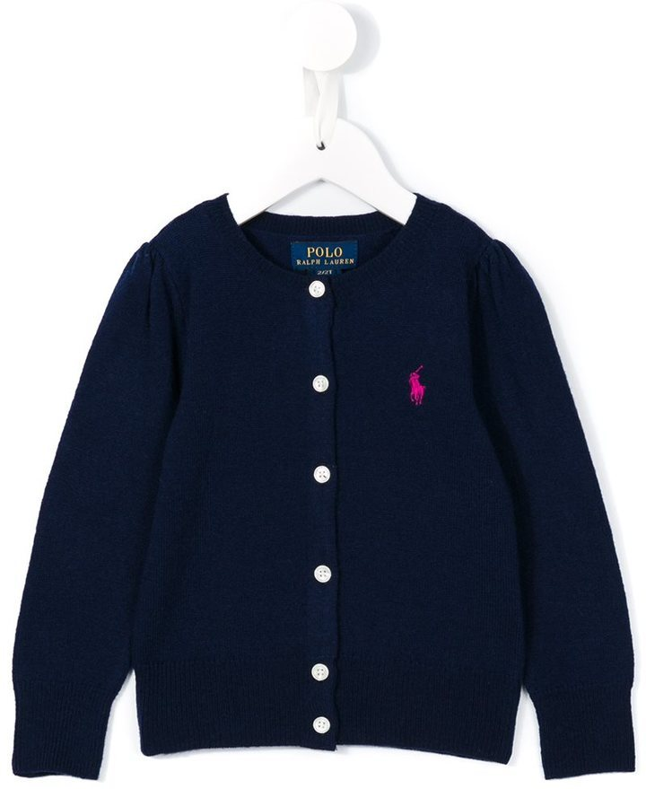 Ralph Lauren Kids Round Neck Cardigan