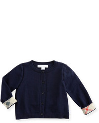 Burberry Rheta Cotton Button Front Cardigan Navy Size 6m 3