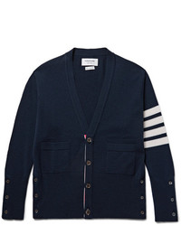 Thom Browne Slim Fit Striped Cashmere Cardigan