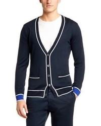 Hugo Boss T Lamotte Slim Fit Italian Wool Cashmere Cardigan Xl Blue