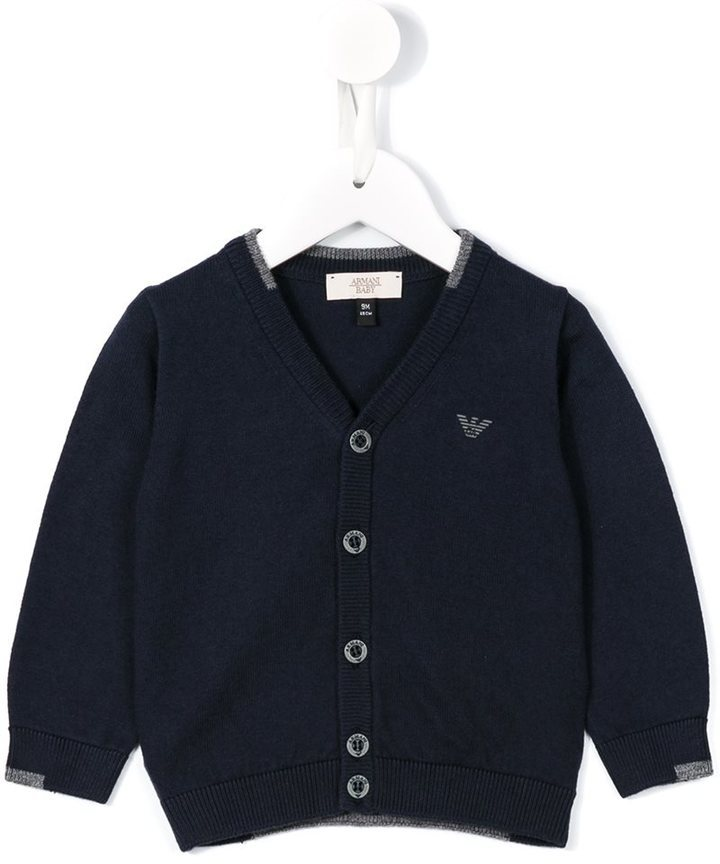 Armani Junior V Neck Cardigan