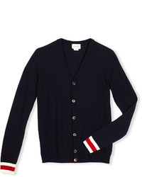 Gucci Wool Web Trim Button Front Cardigan Navy Size 4 12