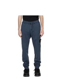 Stone Island Blue Cargo Lounge Pants