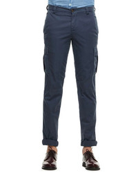 Brunello Cucinelli Cotton Cargo Pants Navy