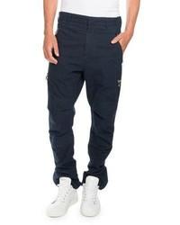 Balmain Cargo Pants With Golden Zippers Navy