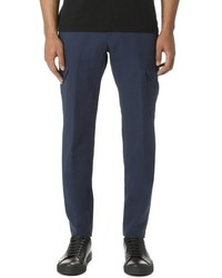 Z Zegna Cotton And Linen Gabardine Cargo Pants