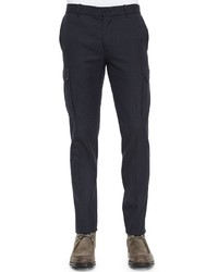 Vince Military Style Cargo Dress Pants Navy