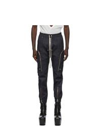Rick Owens Navy Bauhaus Cargo Pants