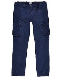 River Island Navy Blue Cargo Pants