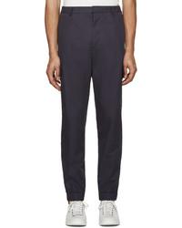 Kenzo Navy Linen Cargo Pants
