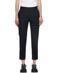 Dolce & Gabbana Navy Street Patchwork Cotton Cargo Pants