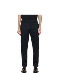 Z Zegna Navy Stretch Cargo Pants