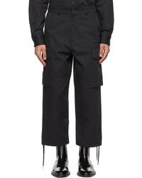 AMI Alexandre Mattiussi Navy Worker Fit Cargo Pants